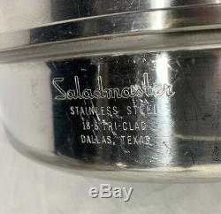 Saladmaster Batterie De Cuisine 18-8 Tri-clad En Acier Inoxydable États-unis 9 Piece Set Vapo Couvercles