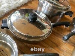 Saladmaster T304s Batterie De Cuisine En Acier Inoxydable Set 14 Pièces Pot Four Casserole Néerlandais Couvercles