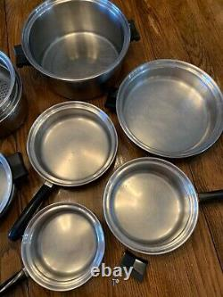 Saladmaster T304s Ensemble D'ustensiles De Cuisine En Acier Inoxydable + Poêle Électrique 14 Pièces