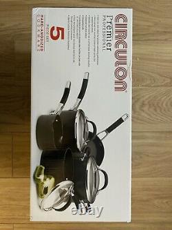 Sealed Circulon Premier Professional Cookware Set Noir 5 Pièces