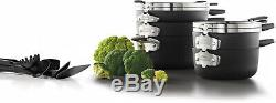 Sélectionner Par Calphalon Espace Saving 5-14 Piece Antiadhésives Batterie De Cuisine Et Ustensiles Set