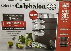 Sélectionnez Par Calphalon Gain D'espace Disque-anodisée Batterie De Cuisine 7 Antiadhésives Piece Nib