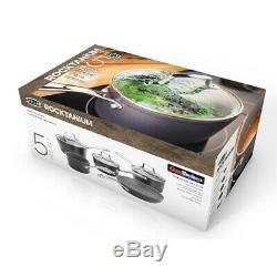 Stellar Rocktanium 5 Pièces Batterie De Cuisine
