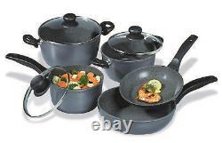 Stoneline Black Cookware Set 8 Pièces
