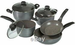 Stoneline Black Pot Et Casseroles Batterie De Cuisine 8 Pièces Batterie De Cuisine Melbourne