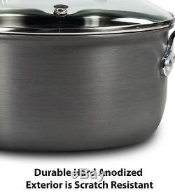 T-fal Anodisé Batterie De Cuisine, Antiadhésif Pots Et Casseroles Set, 17 Pièces, Chaleur