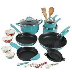 The Pioneer Woman Frontier 24 Piece Cookware Combo Set Pots Pans Inox New