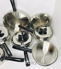 Thermo Core 11 Pièces Ensemble D'articles De Cuisine Sans Eau 18-8 Fabriqués En Acier Inoxydable Aux États-unis Euc