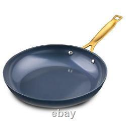 Thym & Table, 12 Pièces Pots Et Casseroles Antiadhésifs, Bleu Avec Couvercles