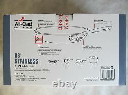 Tous Clad D3 18/10 Acier Inoxydable 7 Pc Piece Tri-ply Cookware Set New