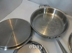 Tous Clad D3 Stainless 3-ply Bonded Cookware 10 Piece Set Great Pre-owned Cond