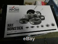 Tous Ha1 Clad Anodisé 10 Antiadhésives Piece Cookware Set Tout Neuf Détail 729 $