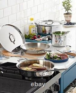 Tous Les Clad D3 18/10 Acier Inoxydable 7 Pièces Pc Tri-ply Cooking Set Nouveau