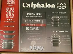 Tout Nouveau Calphalon Premier Nonstick Spacesaving 10-piece Stackable Cookware Set