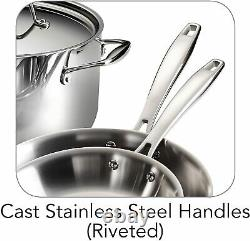 Tramontina Gourmet 10 Piece Tri-ply Clad Stainless Steel Cookware Set Nouveau