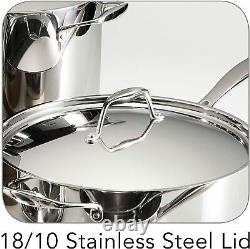 Tramontina Gourmet 12 Pièce Tri-ply Clad Stainless Steel Cookware Set New