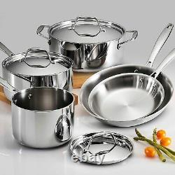 Tramontina Gourmet 8 Pièces Tri-ply Clad Stainless Steel Cookware Set Nouveau