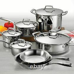 Tramontina Gourmet Prima Stainless Steel 12 Piece Cookware Set Nouveau