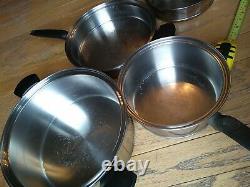 Ustensiles De Cuisine Vintage T304cc Inoxydable 12 Pièces Cookware Ensemble Avec Couvercles