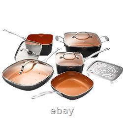Vaisselle 20 Pièces + Bakeware Set Avec Revêtement En Cuivre Durable Antiadhésif