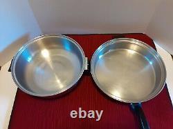 Vaisselle De Cuisine Vintage En Acier Inoxydable Multi-couches Permanente 11 Pièces Pots Et Casseroles