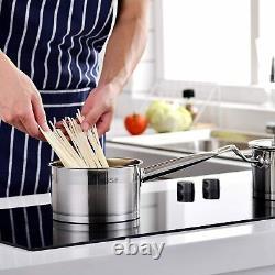 Velaze Mayne Cookware Set Induction Acier Inoxydable Casserole Pans Stock Pot Couvercle