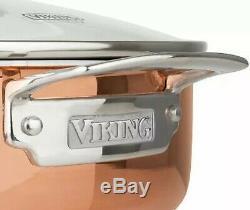 Viking 13 Pièces Tri-ply Copper Clad Batterie De Cuisine Tout Neuf Jamais Ouverts
