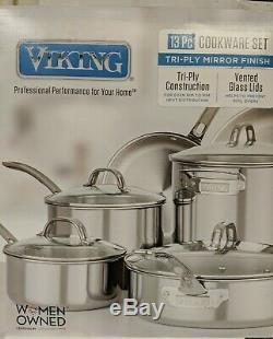 Viking 13-pièces Tri-ply Batterie De Cuisine