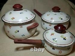 Villeroy & Boch 6 Piece Porcelain Cookware Set Petite Fleur Made W. Allemagne