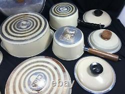 Vintage Club En Aluminium De Porcelaine Tan Amande 14 Pièces