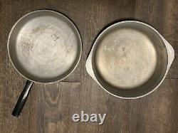 Vintage Jaune Harvest Gold Club Cuisinière En Aluminium Moulé 8 Pièces Ensemble Pot Pan Couvercle