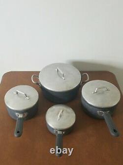 Vintage Magnalite Ghc Professional Cookware 4-piece Set 5qt, 3qt, 2qt, 1qt Pots