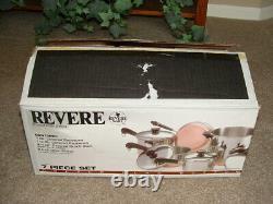 Vintage Nos USA Revere Ware 10 Pièces Set No. 3500471 Nouveaut Rare