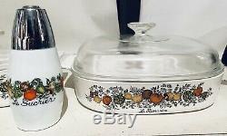 Vintage Original Corning Ware Spice Of Life Batterie De Cuisine! Ensemble De 10 Pièces! Rare