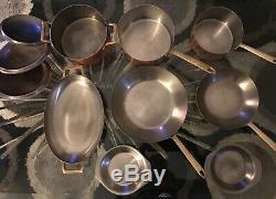 Vintage Paul Revere 1976 Signature Edition Limitée Copper Batterie De Cuisine 11 Pièces