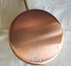 Vintage Paul Revere Ware Cuivre -5 Pièces Ens 3 Skillets & 1 Casserole -1970 S