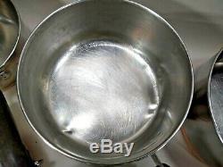 Vintage Revere Ware 8 Piece Lot / Set 4 Sauce Pans 4 Skillets Couvercles Pre 1968 No