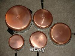 Vintage USA Nos Revere Ware De Cuivre Avec 11 Énorme Piece Set No 3308 Nouveau