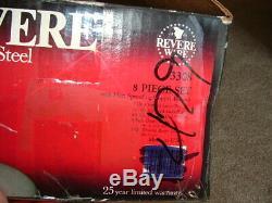 Vintage USA Nos Revere Ware De Cuivre Avec 14 Énorme Piece Set No 3308 Nouveau