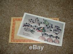 Vintage USA Nos Revere Ware Set Énorme 10 Piece No. 1489 Nouveau