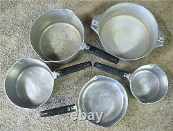 Vintage Wagner Ware Magnalite 10 Pièces Pans & Doutch Oven Set