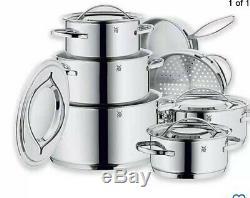 Wmf Gala II En Acier Inoxydable 12 Pièces Batterie De Cuisine Set- Nouveau Mais Dans Open Box